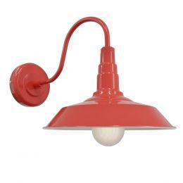 Red Industrial Wall Light - Argyll - Soho Lighting