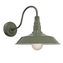 Sage Green Industrial Wall Light - Argyll - Soho Lighting