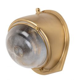 Kingly Lacquered Brass IP66 Rated Outdoor & Bathroom Wall Light