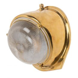 Kingly Polished Solid Brass IP66 Rated Outdoor & Bathroom Wall Light