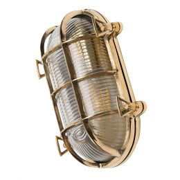 Flaxman Brass Bulkhead Outdoor & Bathroom Wall Light