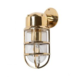 Kemp Polished Brass IP66 Rated Outdoor & Bathroom Nautical Wall Light