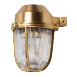 Hopkin Lacquered Solid Brass IP66 Prismatic Glass Outdoor & Bathroom Wall Light