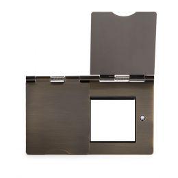 Soho Lighting Antique Brass Black Insert 4 x25mm EM-Euro Module Floor Plate