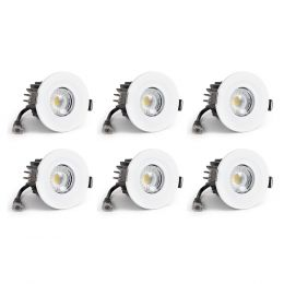 4 Pack - White Fixed CCT Colour Changing Fire Rated LED Dimmable IP65 10W Downlight