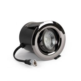 Black Chrome Fire Rated Tiltable LED Downlights Dimmable