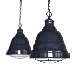 Ganton Vintage Cage Pendant Light Squid Ink Blue