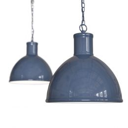 Wardour Industrial Bay Pendant Light Leaden Grey