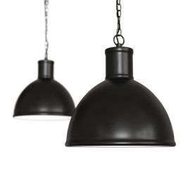 Wardour Industrial Bay Pendant Light Matt Black