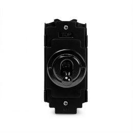Soho Lighting Black Nickel Flat Plate Intermediate Toggle Grid Switch Module