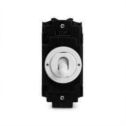 Soho Lighting White Metal Flat Plate Intermediate Toggle Modules in Matching Finish Wht Ins Screwless