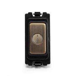 Soho-Lighting-Antique-Brass-Flex-Outlet-Grid-Module