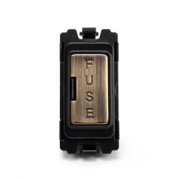 Soho-Lighting-Antique-Brass-Fuse-Unit-Grid-Module