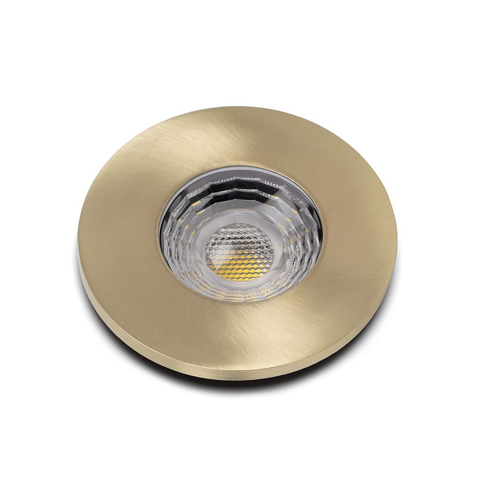 Kitchen Lighting Lieber Brushed Brass GU10 Fire Rated IP65 Downlight for Bathroom Bedroom
