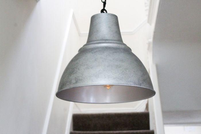 galvanised pendant light