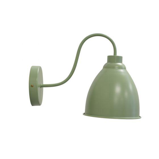 Satin Chalk Mint Green Vintage Wall Light - Oxford - Soho Lighting