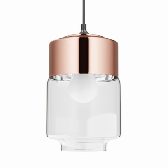 Rose gold pendant light
