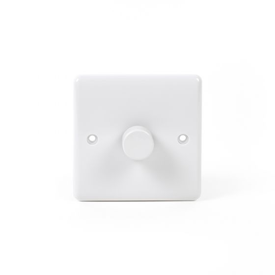 White ST Range 1 Gang 2 Way Leading Dimmer Switch