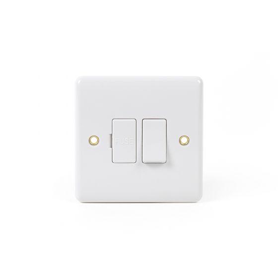 White Urea ST Range 13A Switched Fuse Connection Unit