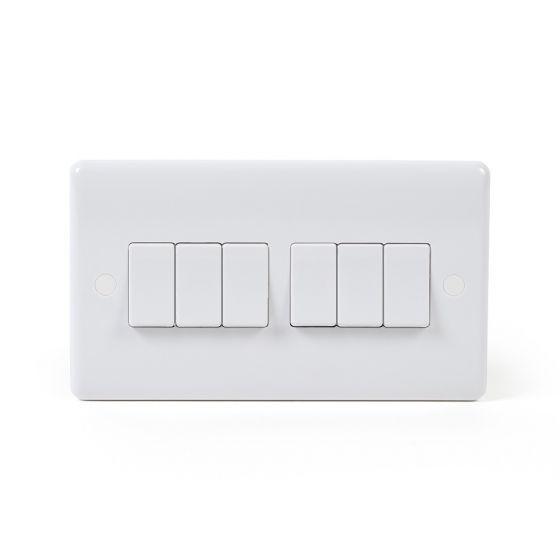 6 gang light switch