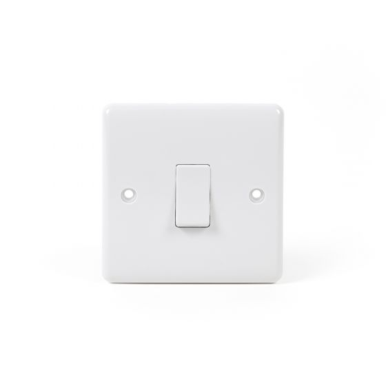 White ST Range 1 Gang Intermediate Switch