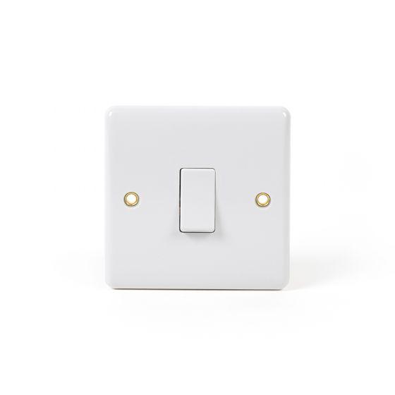 White ST Range 1 Gang 20 Amp Switch