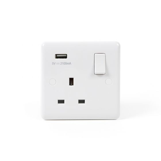 Single USB Socket White