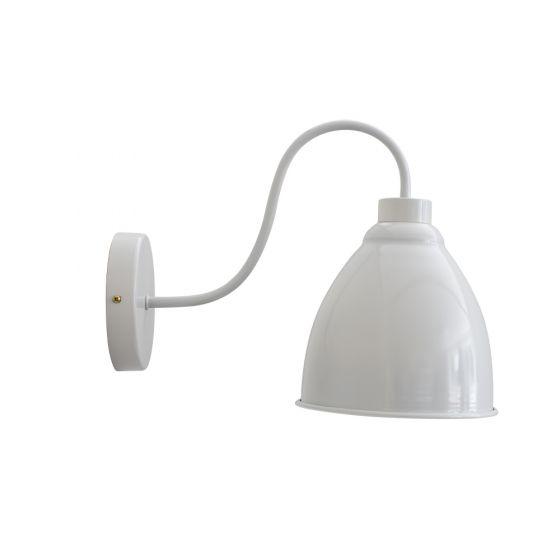 Satin Grey Haze Vintage Wall Light - Oxford - Soho Lighting