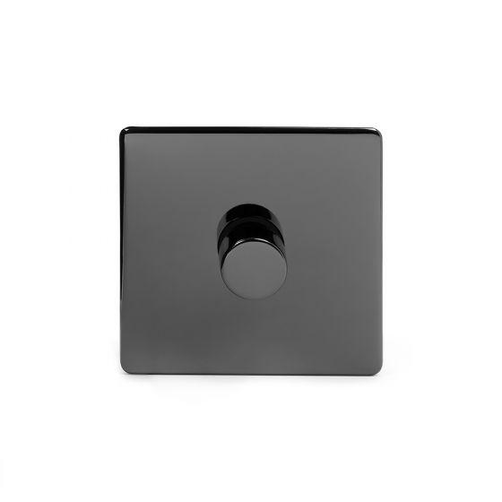 Soho Lighting Black Nickel 1 Gang 2 Way Trailing Edge Dimmer Switch 100W LED (250w Halogen/Incandescent) Screwless