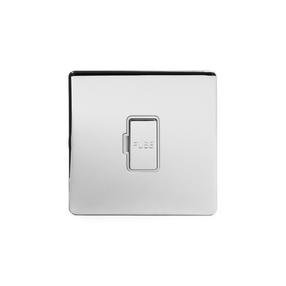Soho Lighting Polished chrome Fused Connection Unit (FCU) Unswitched 13A DP Wht Ins Screwless