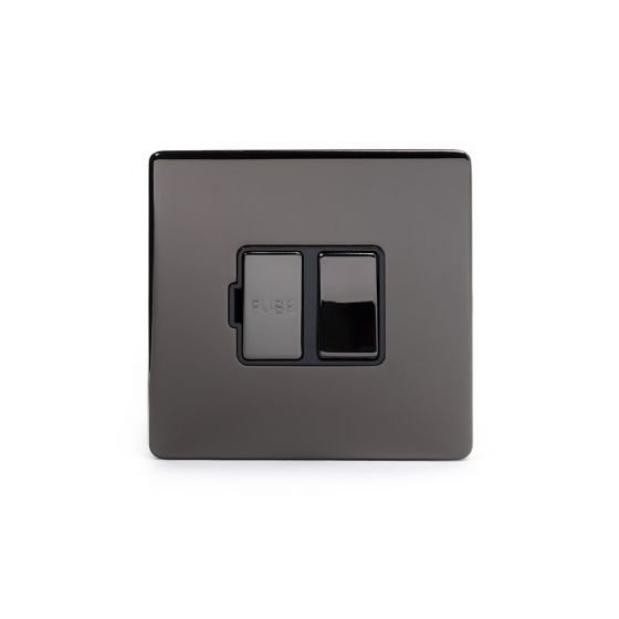 Soho Lighting Black Nickel Fused Connection Unit Switched 13A DP Blk Ins Screwless