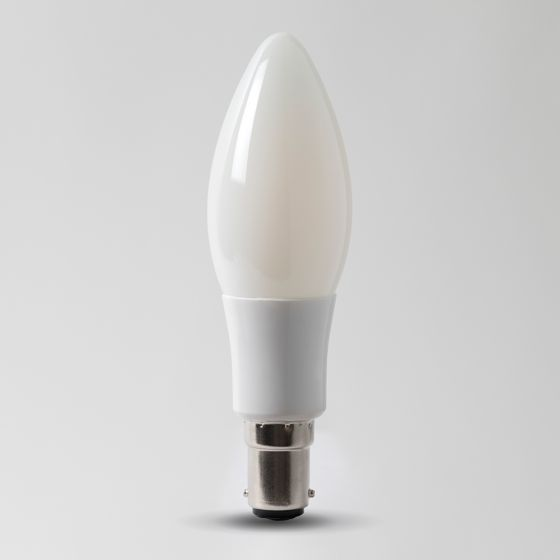 4w B15 3000K Opal Dimmable with white plastic