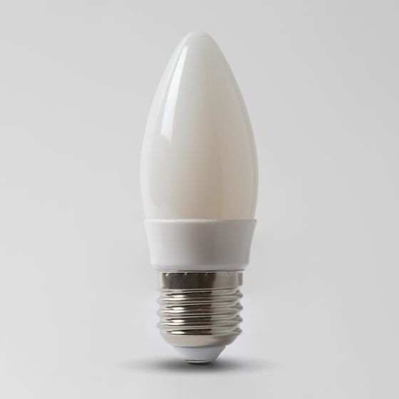 4w E27 3000K Opal Dimmable with white plastic