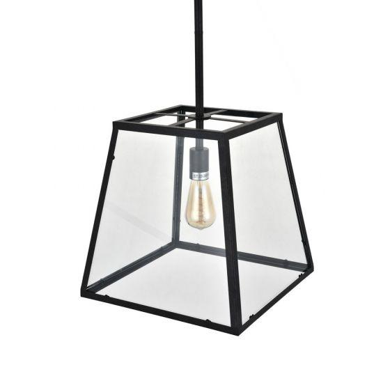 metal and glass lantern pendant