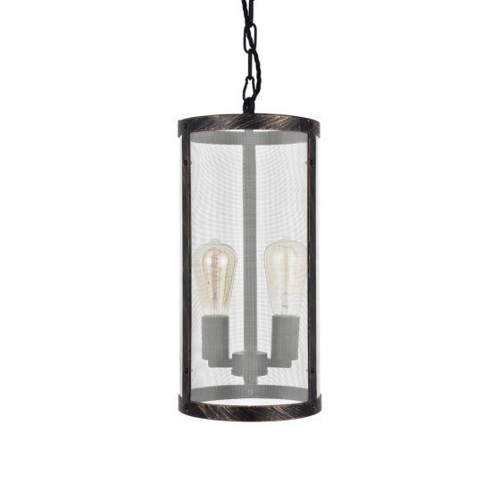 Industrial Mesh Lantern Pendant Light