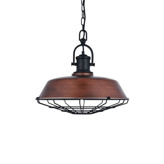 Bronze Industrial Pendant Light