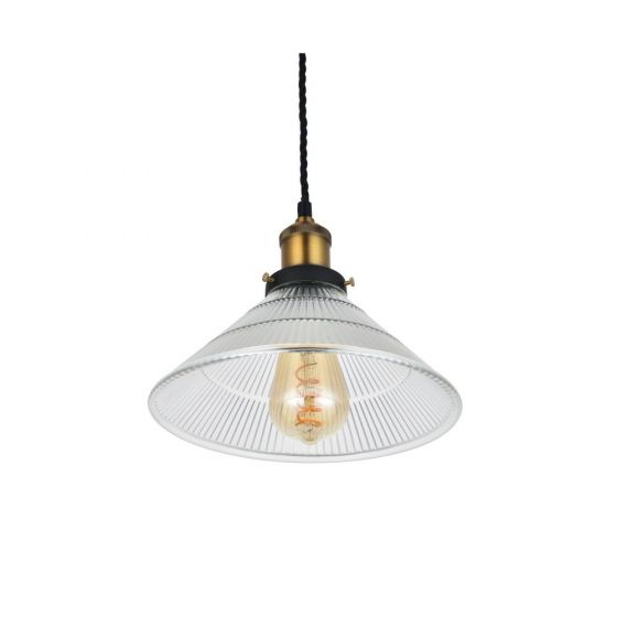 Romilly Tapered Etched Glass French Style Pendant Light - Soho Lighting