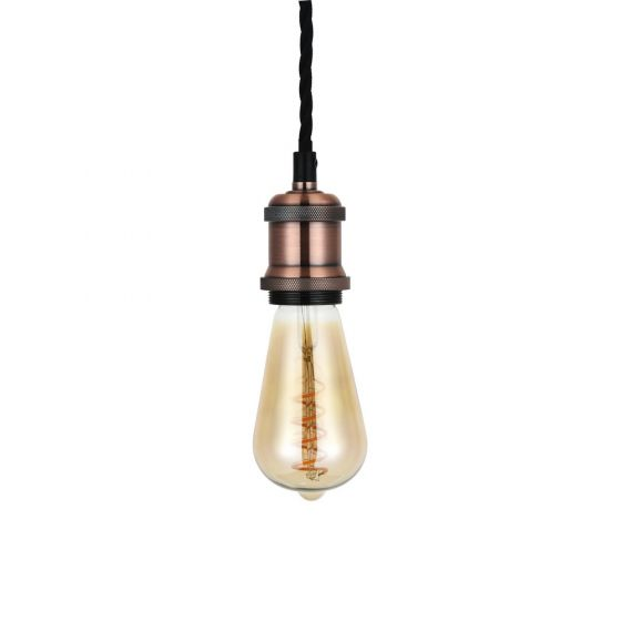 Antique Copper Bulb Holder