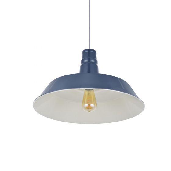 Large Argyll Industrial Pendant Light Leaden Grey