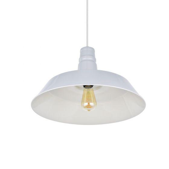 Large Argyll Industrial Pendant Light Pale Grey