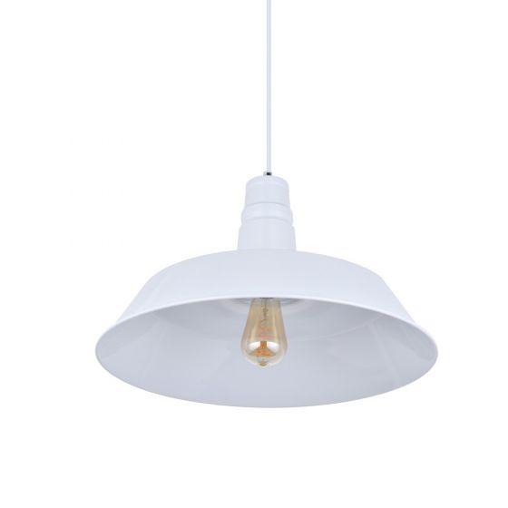 Large Argyll Industrial Pendant Light Pure White