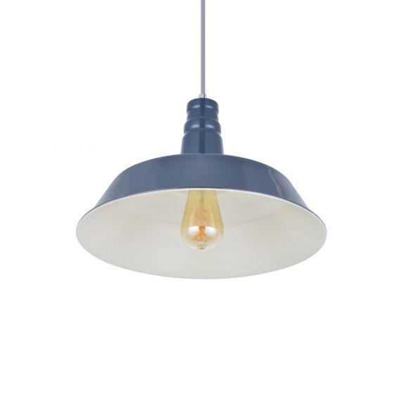 Argyll Industrial Pendant Light Leaden Grey