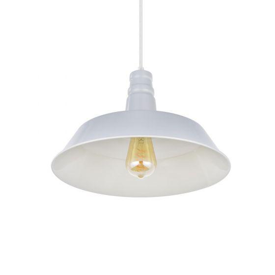 Argyll Industrial Pendant Light Pale Grey