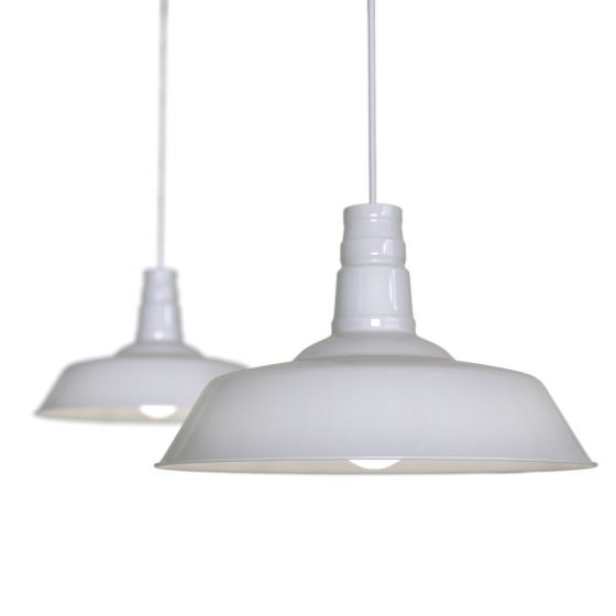 Pale Grey Industrial Breakfast Bar Pendant Light - Argyll - Soho Lighting