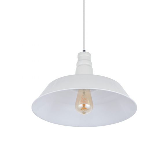 Argyll Industrial Pendant Light Clay White