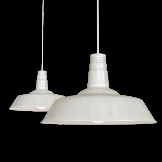 Clay White Cream Industrial Breakfast Bar Pendant Light - Argyll - Soho Lighting