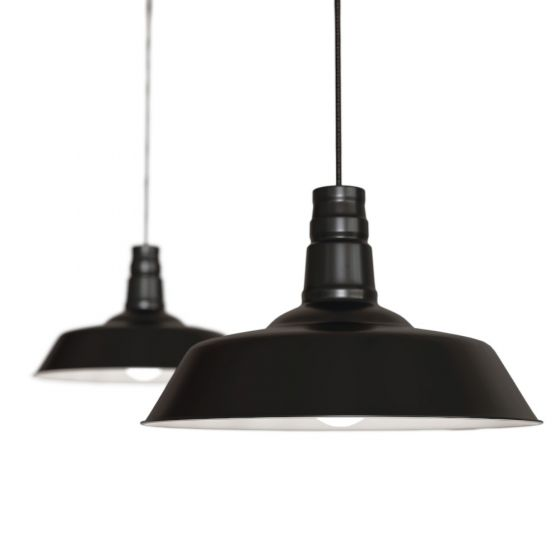 Matt Black Industrial Breakfast Bar Pendant Light - Argyll - Soho Lighting