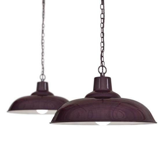burgundy pendant light
