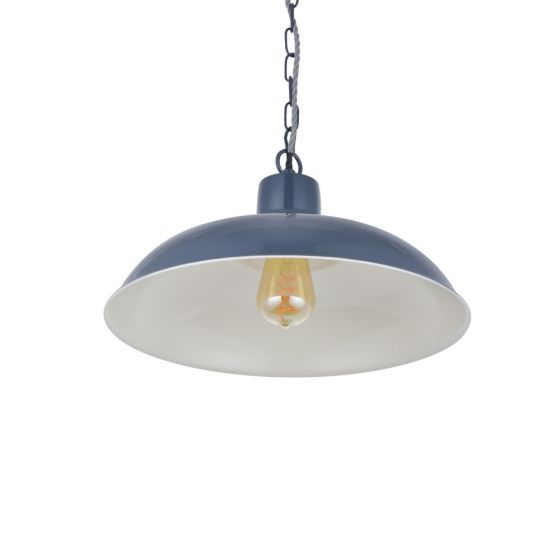 Portland Reclaimed Style Industrial Pendant Light Leaden Grey