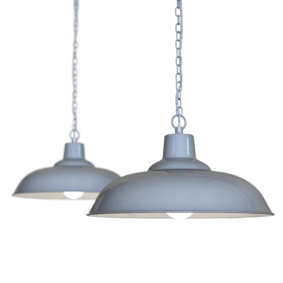 Portland Bedroom and Hallway Pendant Light French Grey - Soho Lighting